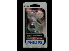 Авто-лампочка PHILIPS Vision Plus P21W 12v 21W (BA15s) (+50% cвета) 12498VPB2