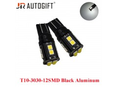 Светодиод JR Autogift 12v T10 12 SMD 3030 белый
