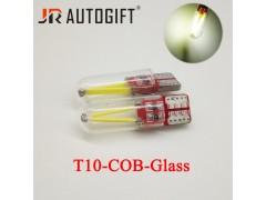 Светодиод JR Autogift 12v T10 2 COB в стекле 360 градусов белый