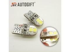 Светодиод JR Autogift 12v T10 4 SMD 3030 силикон белый