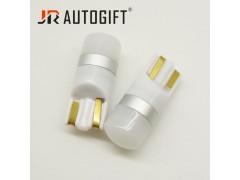 Светодиод JR Autogift 12-24v T10 2 SMD 2835 линза матовая белый