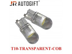 Светодиод JR Autogift 12v T10 1 СOB прозрачный белый