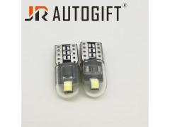 Светодиод JR Autogift 12v T10 2 SMD 2835 стекло белый