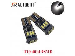 Светодиод JR Autogift 12v T10 9 SMD 4014 обманка белый