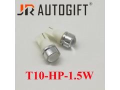Светодиод JR Autogift 12v T10 1 HP LED круглая линза, 1.5W белый
