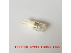 Светодиод JR Autogift 12v T10 1 HP LED цветочная линза, 1.5W белый