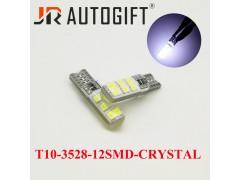 Светодиод JR Autogift 12v T10 12 SMD 3528 силикон белый