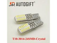 Светодиод JR Autogift 12v T10 24 SMD 3014 силикон белый