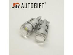 Светодиод JR Autogift 12v T10 1 SMD 3030 линза 3W белый