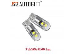 Светодиод JR Autogift 12v T10 3 SMD 3030 линза 9W белый