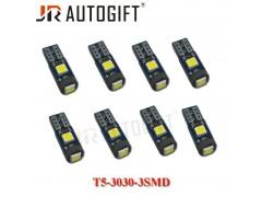 Светодиод JR Autogift 12vT5 3SMD 3w 3030 микрушка белый