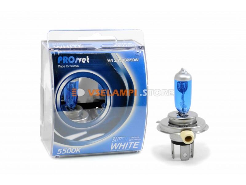 Галогенные лампы PROsvet SuperWhite 24V комплект 2шт. - цоколь H7 100