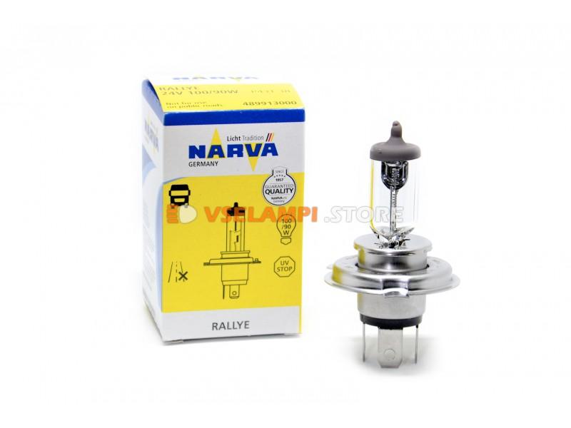 Галогеновая авто-лампа Narva Стандарт 24V цвет желтый, 1шт - цоколь H1