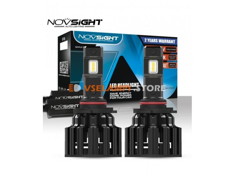 Сверх яркие светодиоды Novsight F06 6000k, комплект 2шт. - цоколь HB4