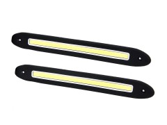 Ходовые огни HDX-12, прямая линия, 260*30 мм, гибкие, резиновые