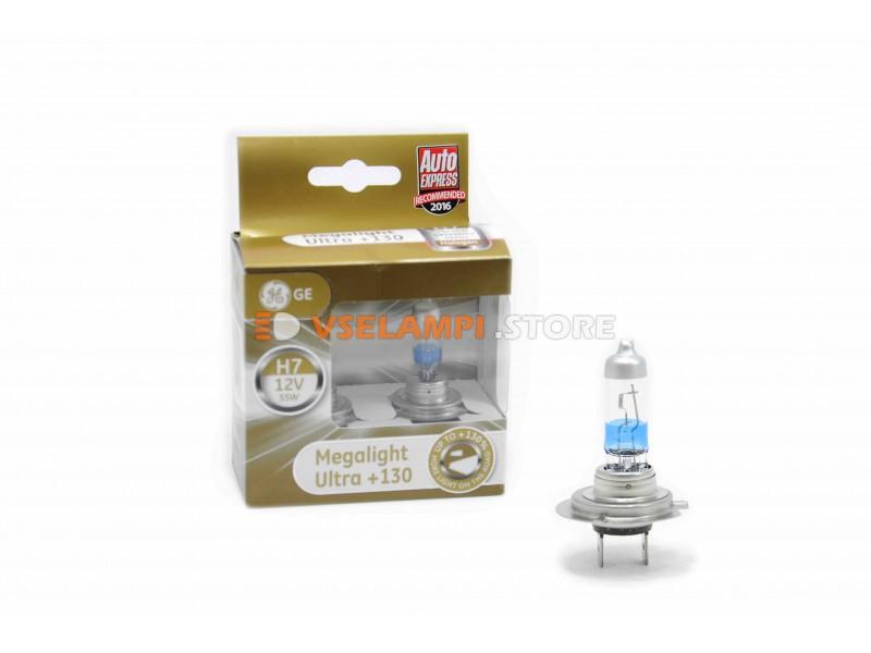 Галогенные лампы General Electric MEGALIGHT ULTRA +130% света комплект 2шт.