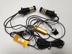 Светодиоды в ходовые огни 12-24v canbus с функцией поворотника 60 SMD+линза БЕЗ ЦОКОЛЬНЫЕ
