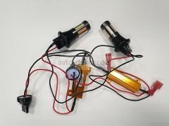 Светодиоды в ходовые огни 12-24v canbus с функцией поворотника 66 SMD+линза БЕЗ ЦОКОЛЬНЫЕ