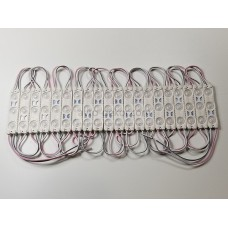 Светодиодный модуль 12v 3SMD с линзами 75*15мм, 1шт.