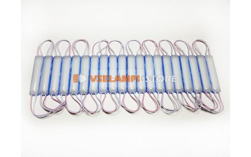 Светодиодный модуль 12v 9 COB 75*16мм, 1шт. - цвет свечения синий