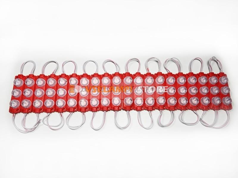Светодиодный модуль 12v 3 SMD 70*20мм, 1шт. - цвет свечения зелёный