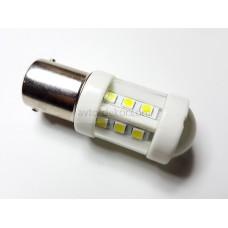 Светодиод 12-24v T25 18SMD 1 конт. белый линза керамика