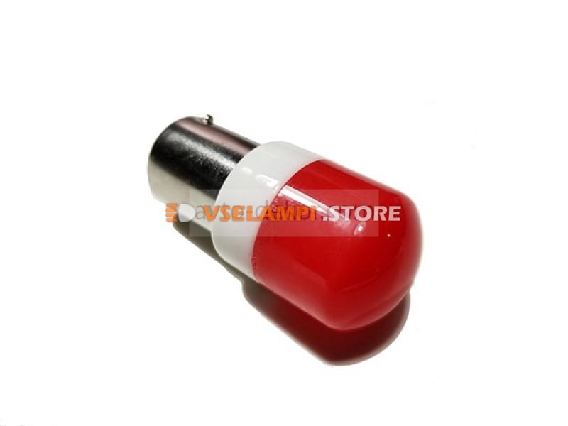 Светодиод 12-24v T25 6SMD 3030 1 конт. матовая керамика - цвет свечения белый