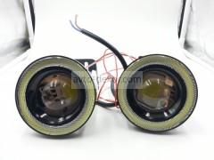 Фары линзованые 20W High Power chip с ангельскими глазками D64мм