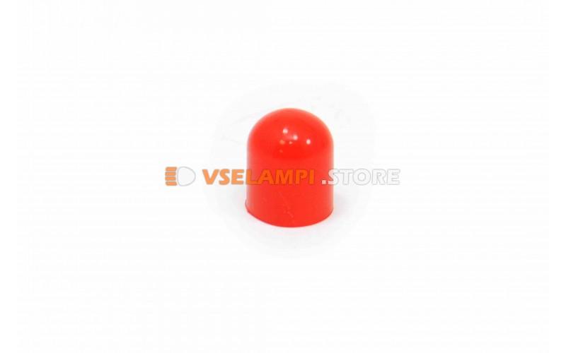 Колпачки под лампочки б/ц 5w большой - цвет свечения красный