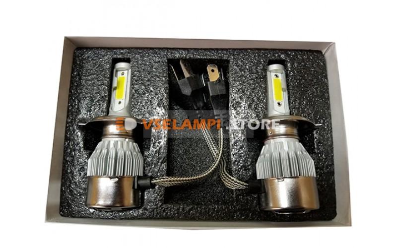 Сверх яркие светодиоды AVTODECOR C6 комплект 2шт. - цоколь H4