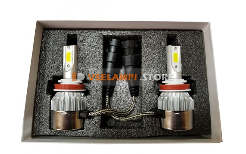 Сверх яркие светодиоды AVTODECOR C6 комплект 2шт. - цоколь HB3