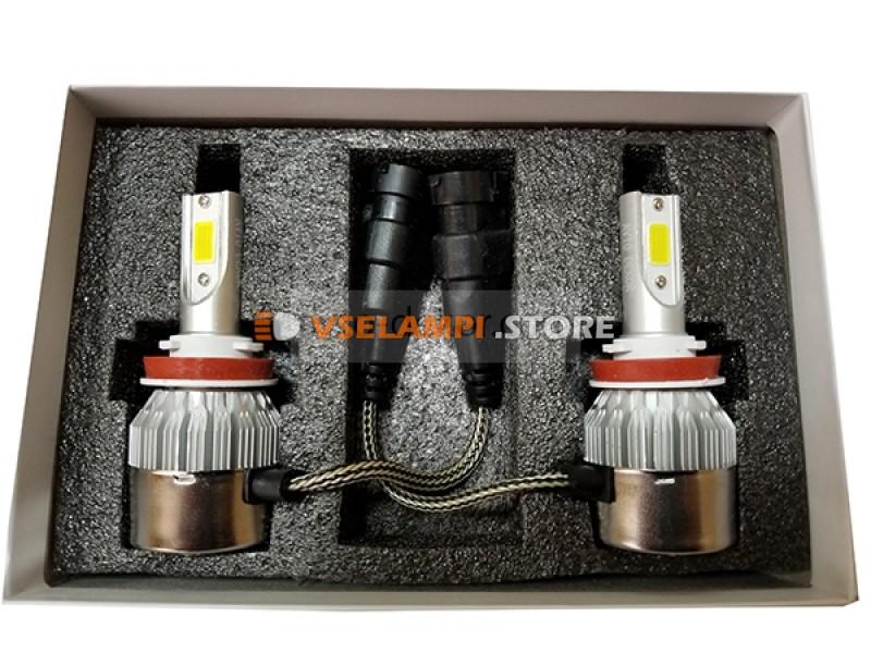 Сверх яркие светодиоды AVTODECOR C6 комплект 2шт. - цоколь H8/H9/H11