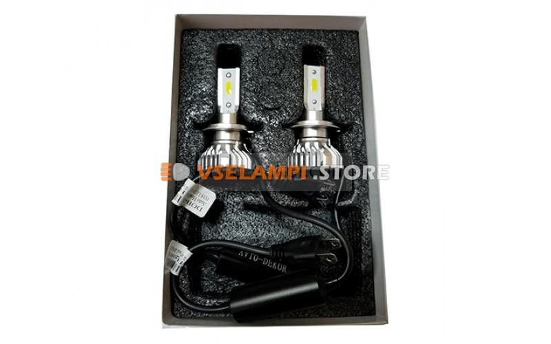 Сверх яркие светодиоды Avtodecor DOB mini 6000k комплект 2шт. - цоколь H7