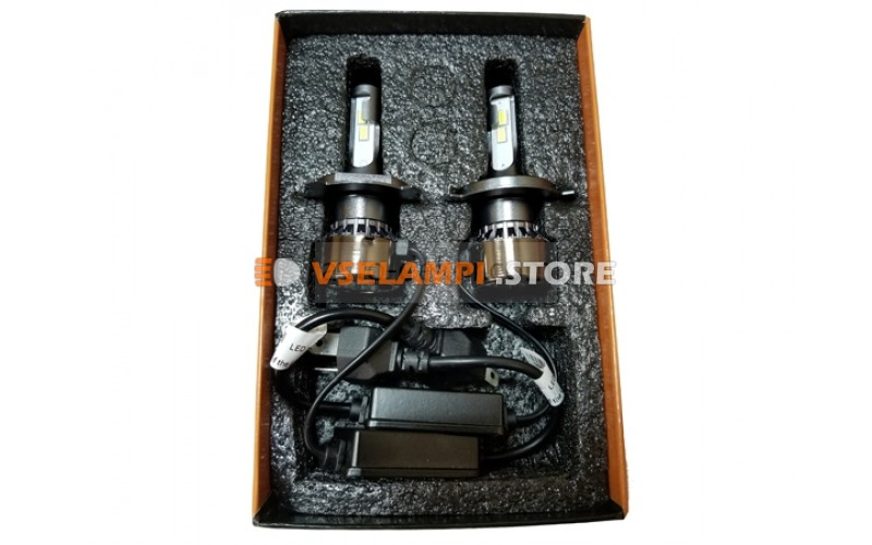 Сверх яркие светодиоды Avtodecor M5 6000k комплект 2шт. - цоколь H4
