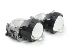 "Би-LED модуль AES A2-2 Universal с переходниками под лампы H4,H7,H11 3"" (к-т 2шт.)"