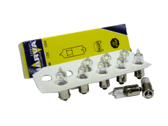 Авто-лампочка Narva Halogen H10W (BA9s), 1 конт, 12v, 10w, желтый