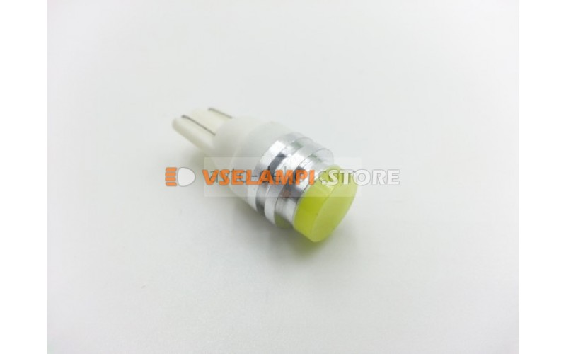 Светодиод 12vT10 3D ceramic б/ц белый