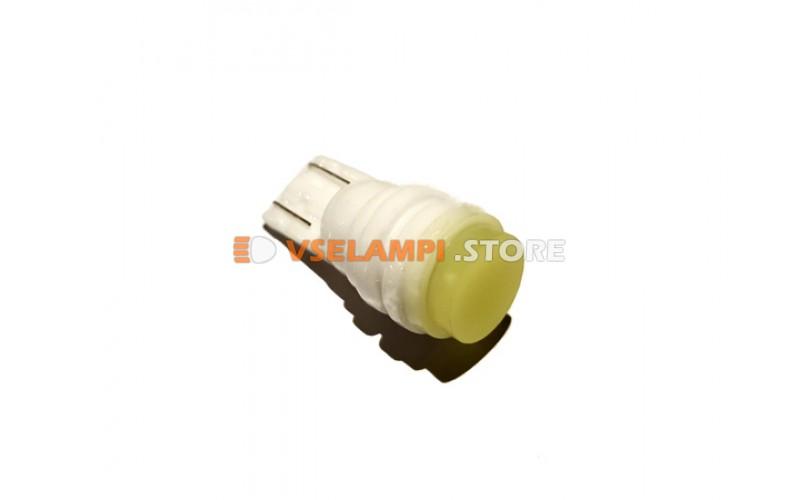 Светодиод 12vT10 1SMD б/ц 6000k белый фарфоровый