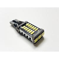 Светодиод 12v T15 30 SMD б/ц обманка, радиатор белый