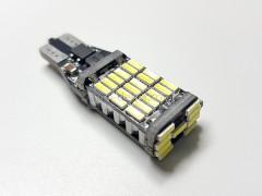 Светодиод 12v T15 45 SMD б/ц обманка, радиатор белый