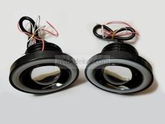 Фары линзованые 20W High Power SMD с ангельскими глазками D64мм