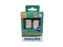 Светодиод PHILIPS PY21W 12v Ultinon LED + CANbus, 11498ULAX2 2шт.