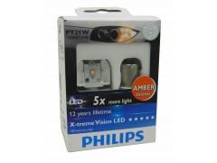 Светодиод PHILIPS PY21W 12V-21W (BAU15s) LED оранж. 12764 X2