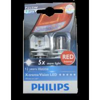 Светодиод PHILIPS P21/5W 12/24V-21/5W (BAU15b) LED красн. 12899 RX2