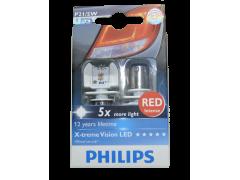 Светодиод PHILIPS X-treme Ultinon P21/5W 12/24V (BAU15b) LED красн. 12899 RX2