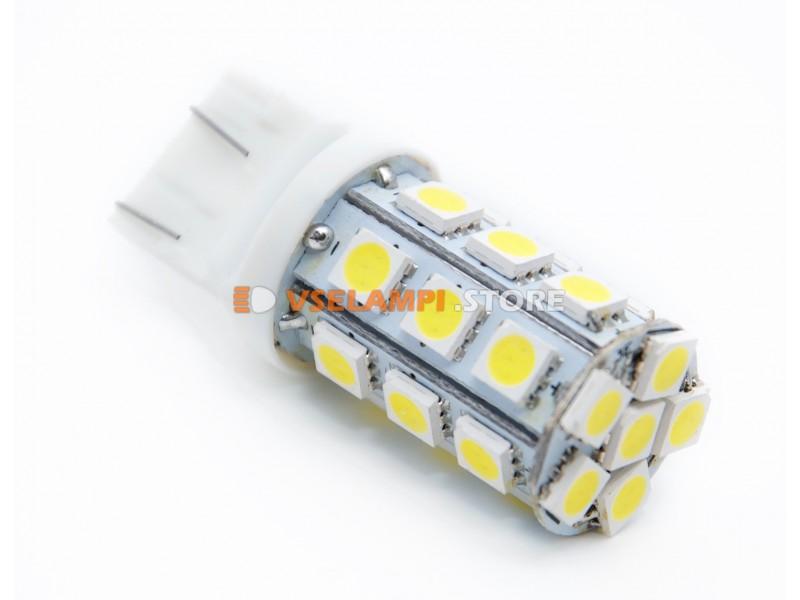 Светодиод 12vT20/5 24SMD б/ц 2конт. - цвет свечения желтый
