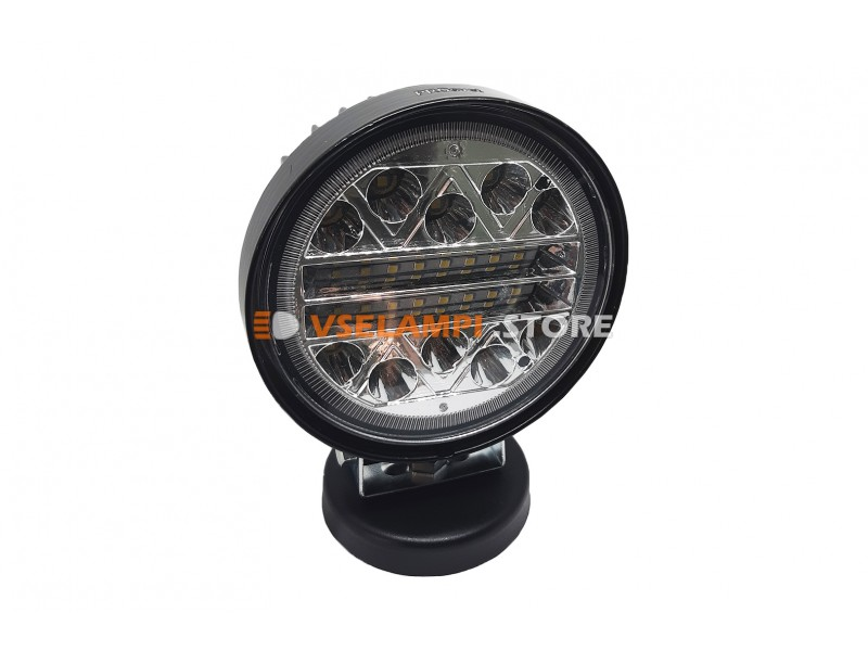 Прожектор 9-32V 42W 26SMD круглая 110x110mm дальний