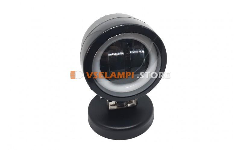 Прожектор 9-32V 20W 2SMD круглая 75x75mm ближний, ДХО