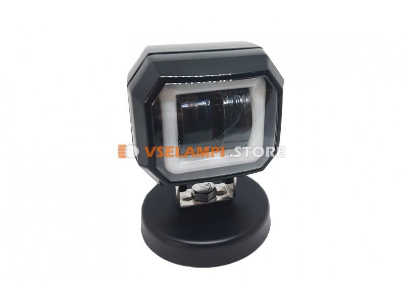 Прожектор 9-32V 20W 2SMD квадратная 75x75mm ближний, ДХО