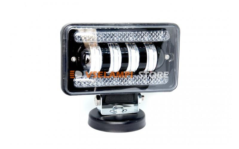 Прожектор 9-32V 40W 4SMD 150x90mm ближний, ДХО